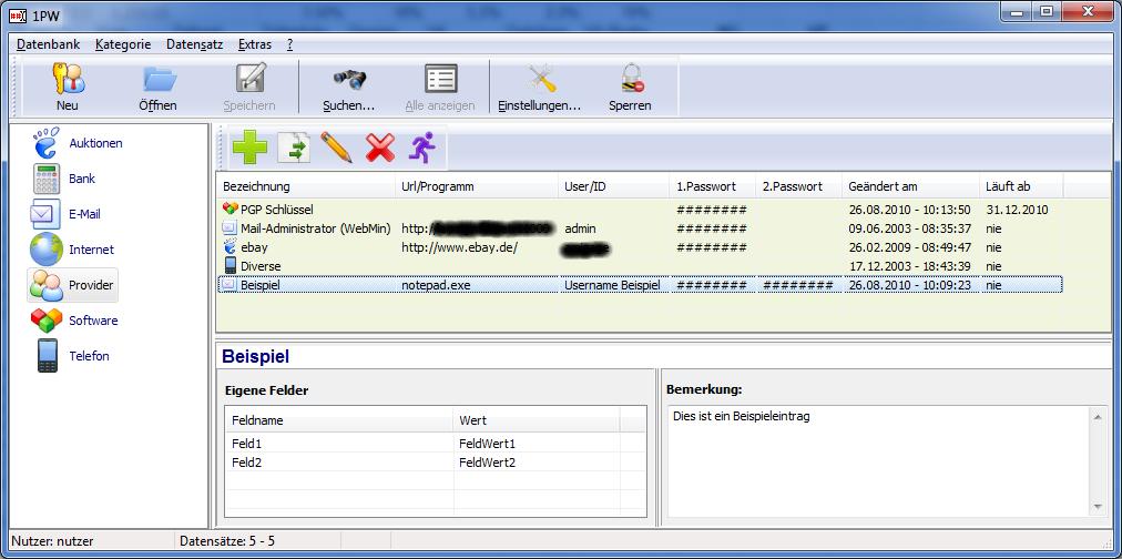 Passwortverwaltung 1PW
