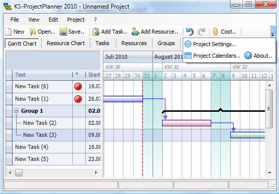 Kostenloser Project Planner 2011