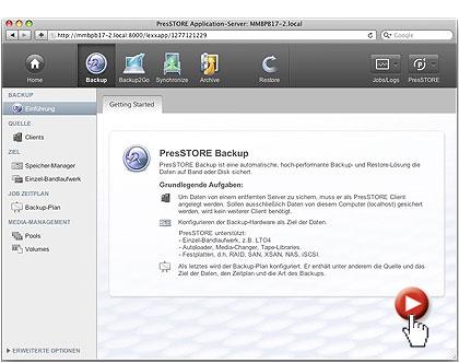 Archiware - PresStore- Backup